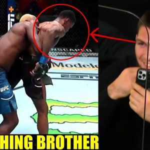 MMA Community React to Derek Brunson DOMINATING a LAUGHING-TALKING Kevin Holland,Khabib gives advice