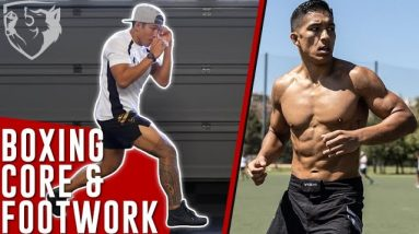 Solo Boxing Training for Core Strength & Footwork