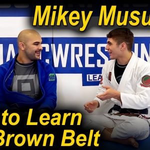 What To Learn In Jiu Jitsu When You Are A BJJ Brown Belt by Mikey Musumeci