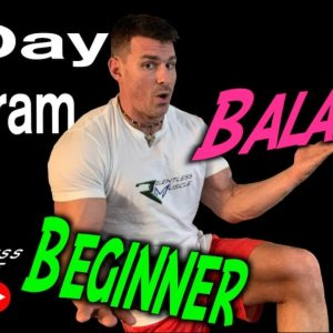 5 Day Beginner Workout Program (Improving Balance)