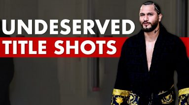 The 10 Most Undeserved Title Shots In UFC History