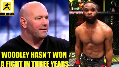Dana White gives his official prediction for Tyron Woodley's boxing bout versus Jake Paul,UFC 263