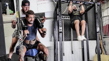 On & Off Camp MMA Lower Body Strength Training with UFC Crew | Phil Daru