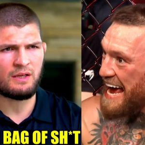 Khabib reacts to Conor McGregor attacking Dustin Poirier's wife in the post fight speech, Aljo on TJ