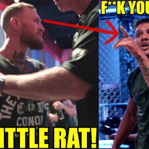 Conor McGregor has a heated altercation with Rafael Dos Anjos backstage at UFC 264 Weigh-ins,Poirier