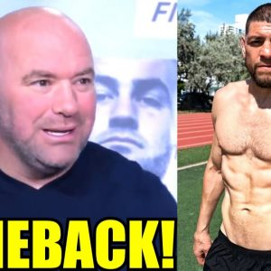 Nick Diaz in talks with UFC to fight Robbie Lawler on Sept 25 at UFC 266,Dana White on Lewis vs Gane