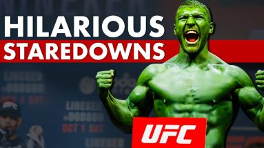 10 More Ridiculously Hilarious Pre-Fight Staredowns